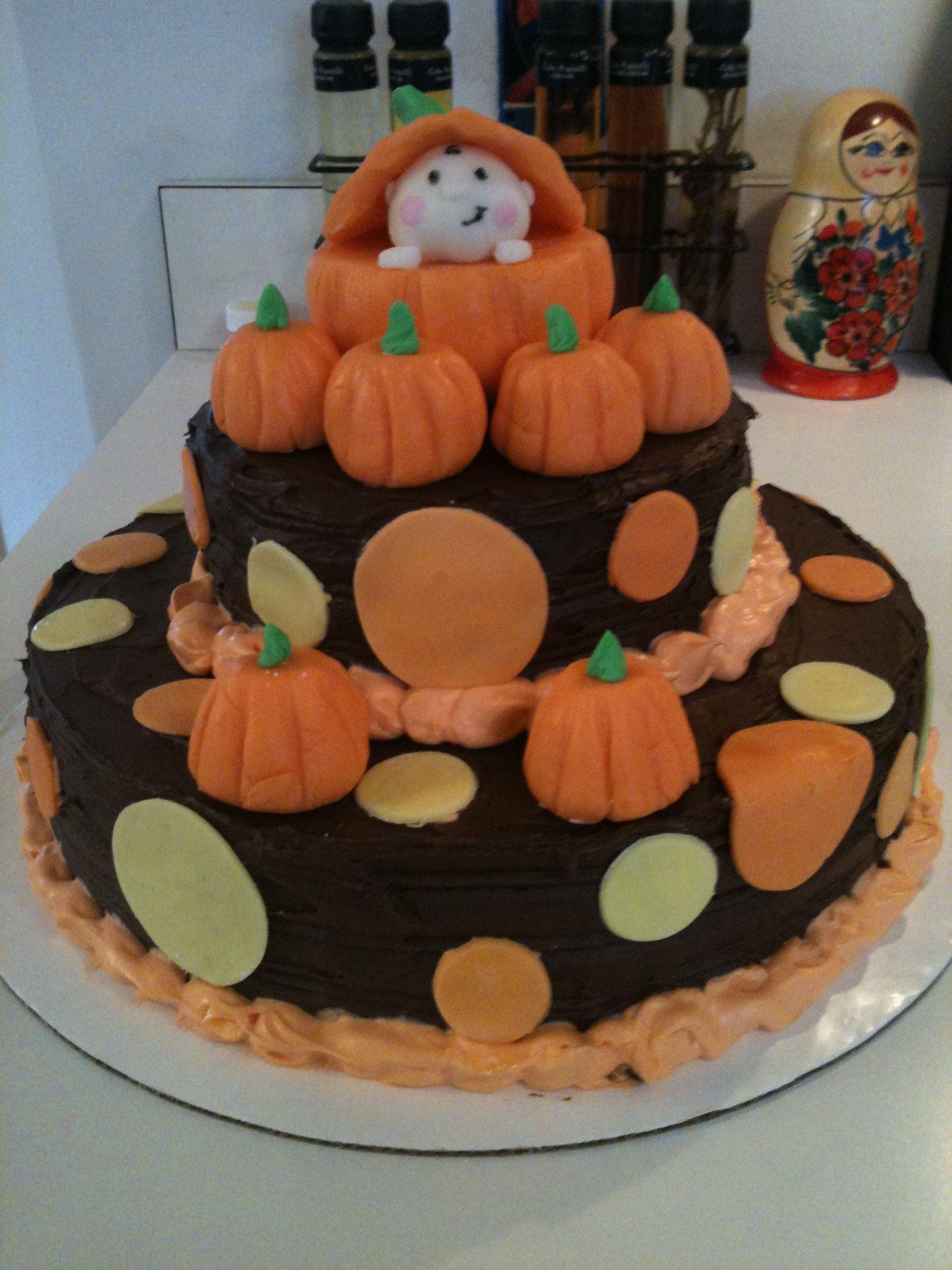 Autumn Themed Baby Shower Cake