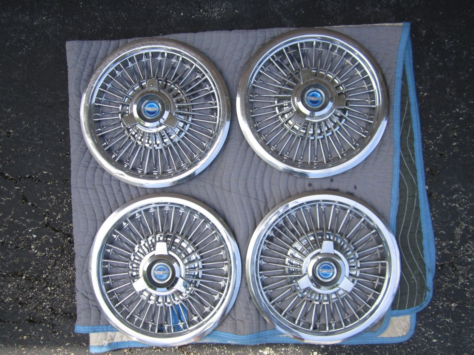 1963 ford galaxie parts ebay - 15 4 65 67 Ford Galaxie Xl Wire Wheel Covers Hub Caps Spinner Mustang Rare