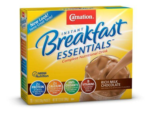Carnation Instant Breakfast Essentials, Rich Milk Chocolate, 10-Count Packets (Pack of 3) - http://sleepychef.com/carnation-instant-breakfast-essentials-rich-milk-chocolate-10-count-packets-pack-of-3/