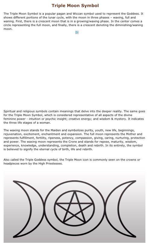 Triple Moon Symbol Pagan Pride Pinterest Symbols Pagan