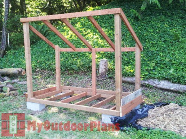 firewood shed plans outdoor shed plans free pinterest holz garten und h tte. Black Bedroom Furniture Sets. Home Design Ideas