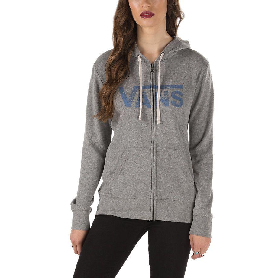 b4a5b87a0367ed Authentic Logo Zip Hoodie   Shop Womens Sweatshirts at Vans   vans ...