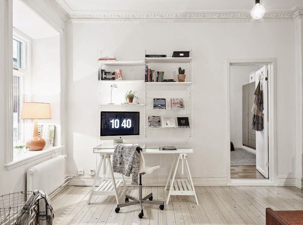 46 Great Home Office Design Ideas With Scandinavian Style Trendehouse Interior Office Furniture Design Home Office Design