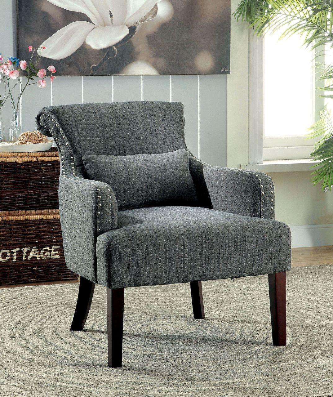 Agalva Accent Chair CM-AC6113GY