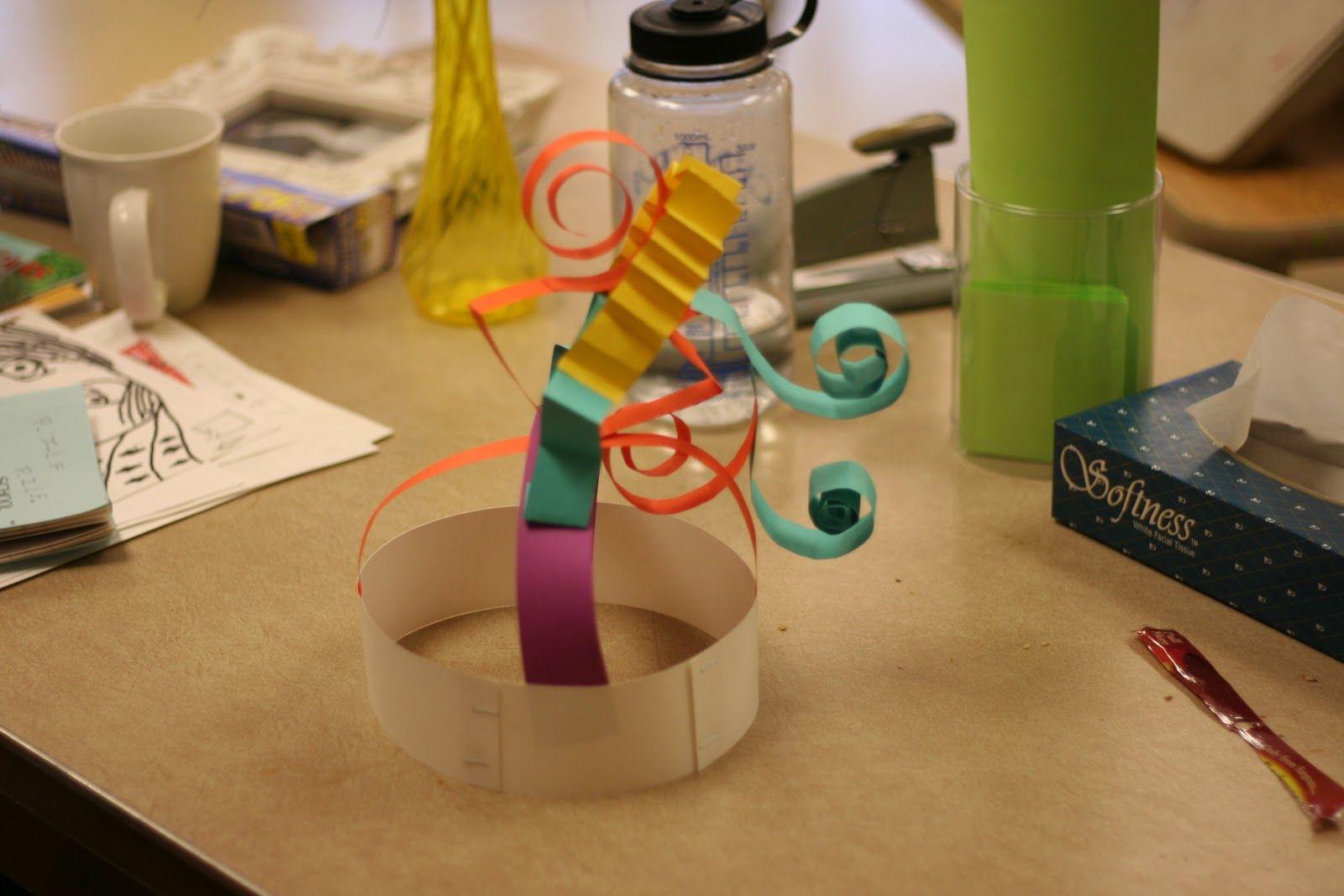 Kindergarten Crazy Crowns Sculpture Hats Crinkle Bend