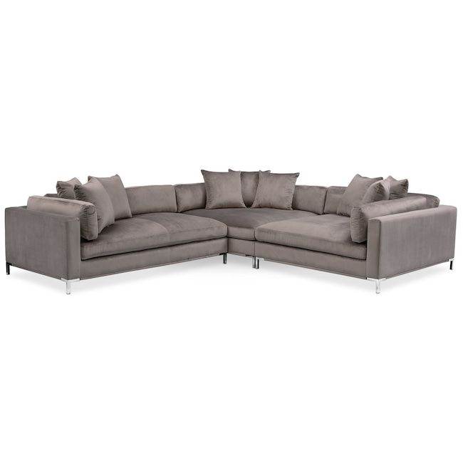 Piece Sectional With Left Facing Chaise