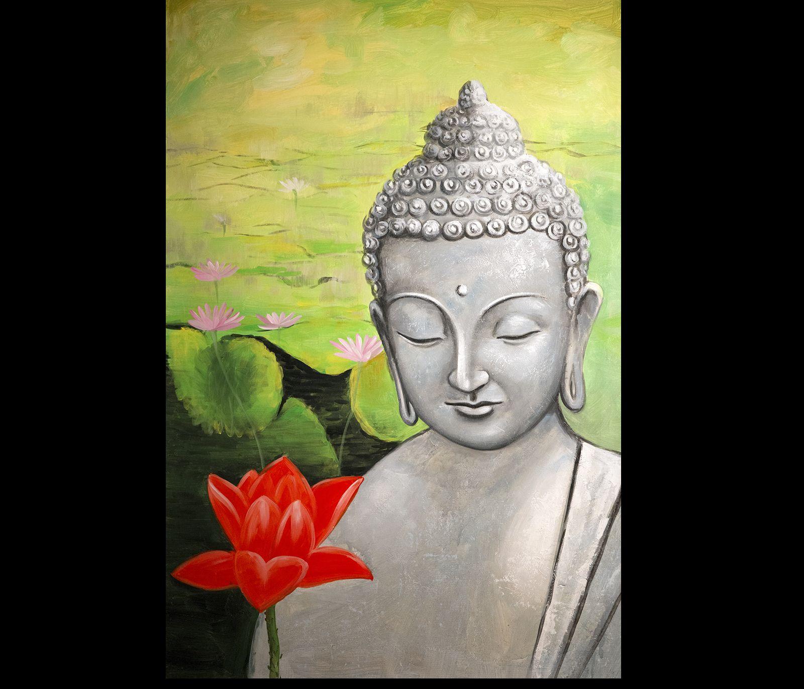 Zen Buddha Art Modern Wall Decor Buddha Painting Abstract ...