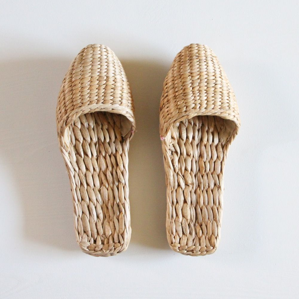 A traditional woven slipper