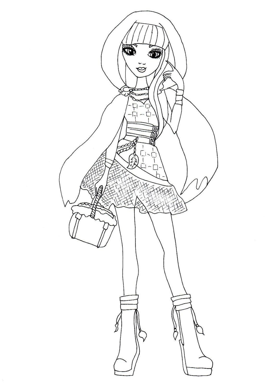 Ever after high coloring pictures - Free Printable Ever After High Coloring Pages Cerise Hood Ever After High Coloring Page