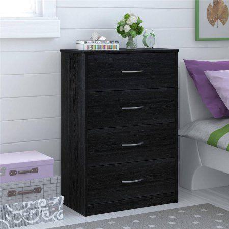 Mainstays 4 Drawer Dresser Walmart Com 4 Drawer Dresser Dresser Drawers Dresser