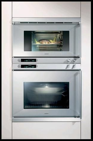 Gaggenau Steamer And Oven Extreme Design Incorporates Quality Liances From
