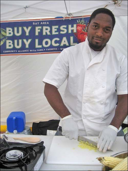 Bryant Terry Gives A Healthy Cooking Demo At The Bayview Farmer S