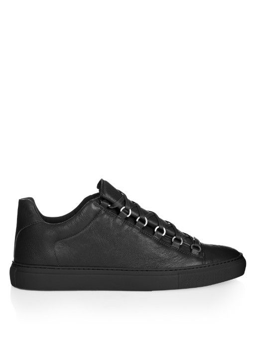 the best attitude b4a52 8a8b5 BALENCIAGA Arena Low-Top Leather Trainers.  balenciaga  shoes  sneakers