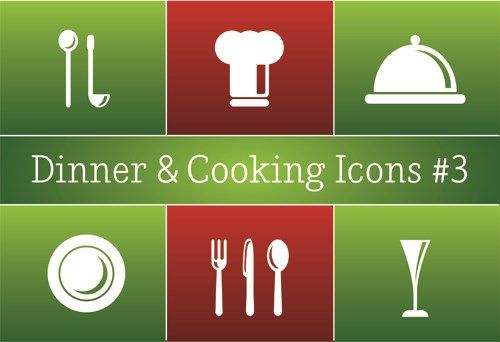 Different Cooking Icon Vector Icon Set Vector Cooking Icon Restaurant Icon