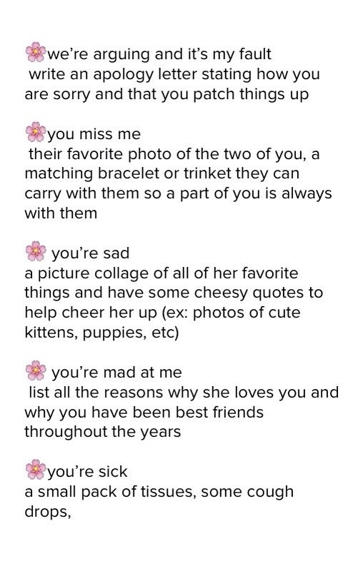 What to write in open when letters for best friend