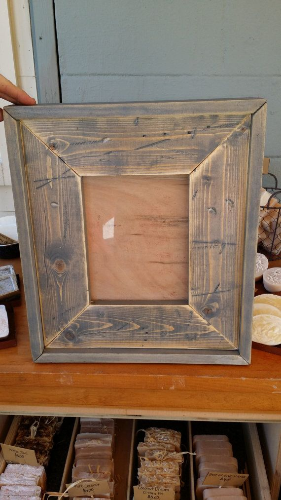 Reclaimed Wood Handmade Picture Frames by StampCreekPrimitives ...