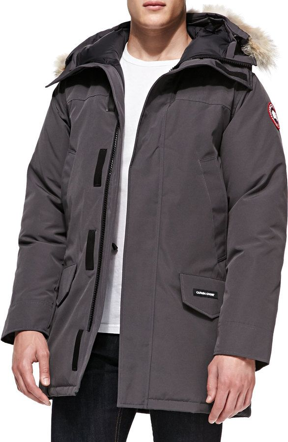 Canada Goose Langford Arctic-Tech Parka Jacket with Fur Hood, Graphite, Canada Goose Langford parka with 625 fill power white duck down fill from the Arctic ...