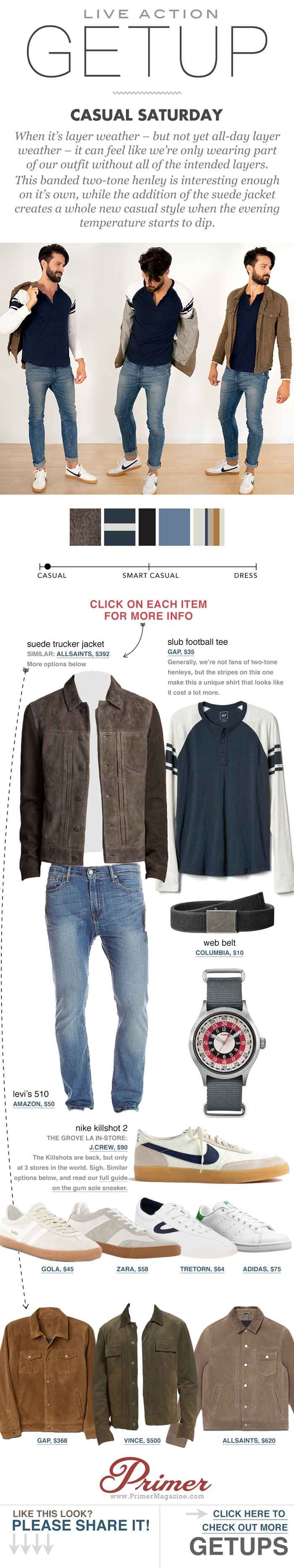 Live action getup casual saturday man outfit man style and
