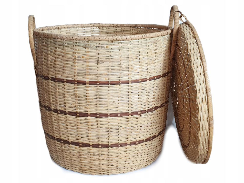 Duzy Okragly Kosz Kufer Na Bielizne Pranie 60 Cm 8312958382 Oficjalne Archiwum Allegro Wicker Laundry Basket Laundry Basket Wicker
