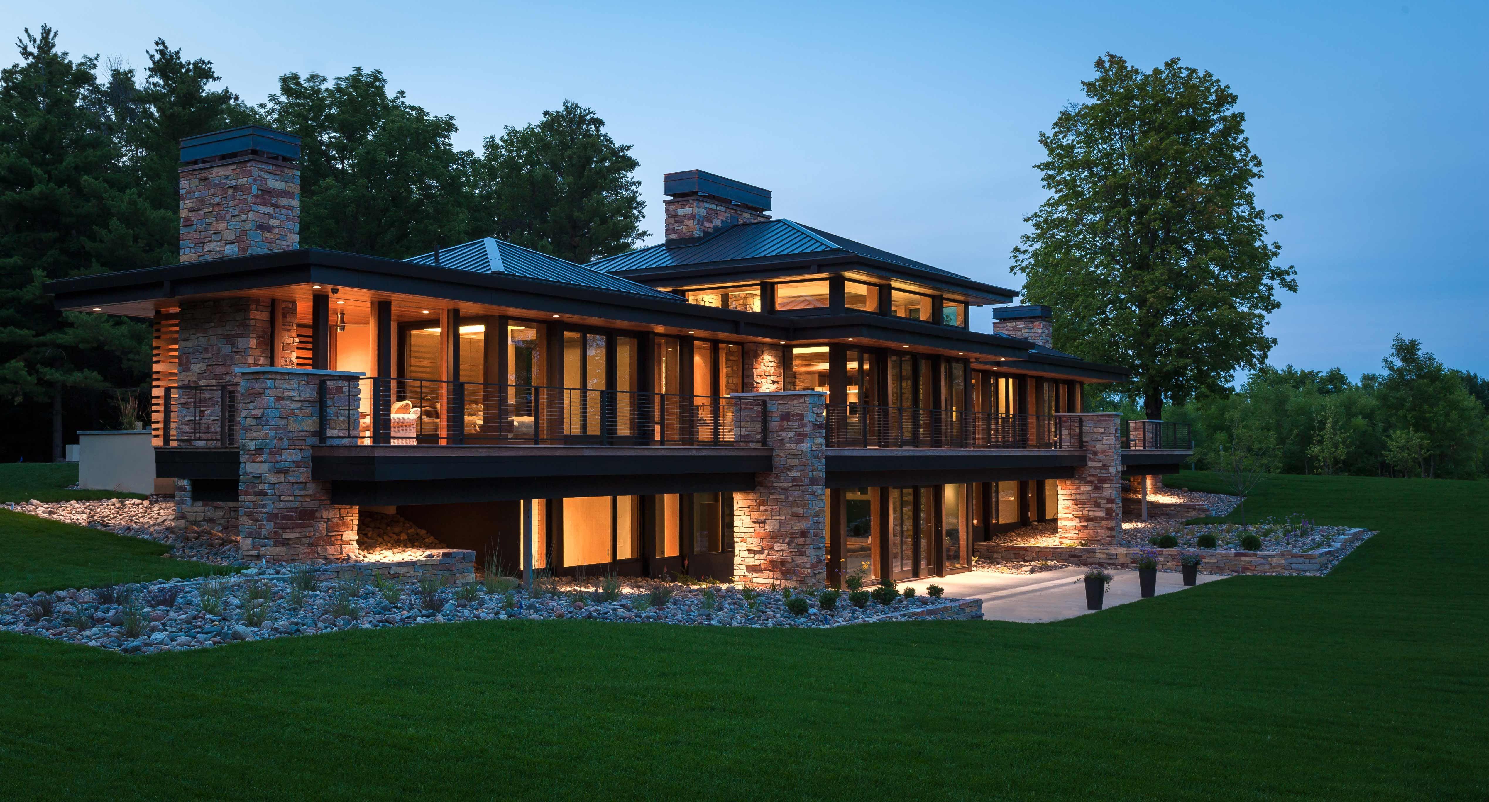 MODERN LAKE HOME  CHARLES R STINSON ARCHITECTURE