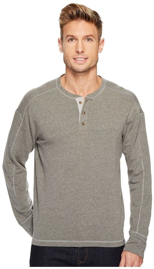 5bb31fcd1 The North Face Long Sleeve Terry Henley Men's Long Sleeve Pullover ...