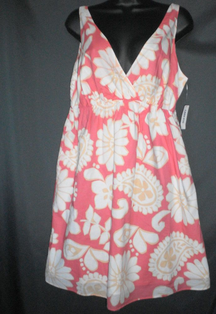 Old Navy floral dress size L pink white new with tags sleevless