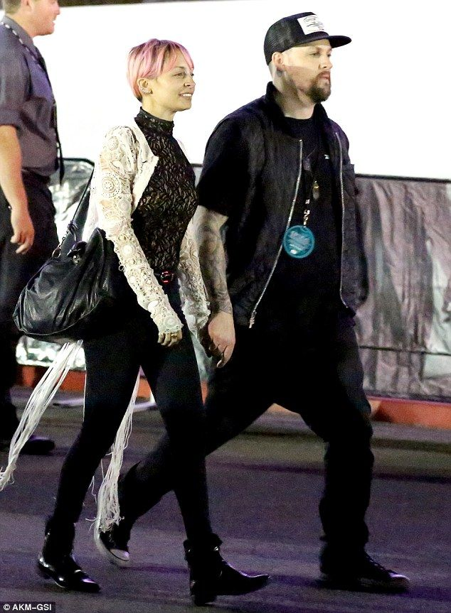 Rock solid: Nicole Richie and Joel Madden appeared to put rumours of a split to rest, on W...