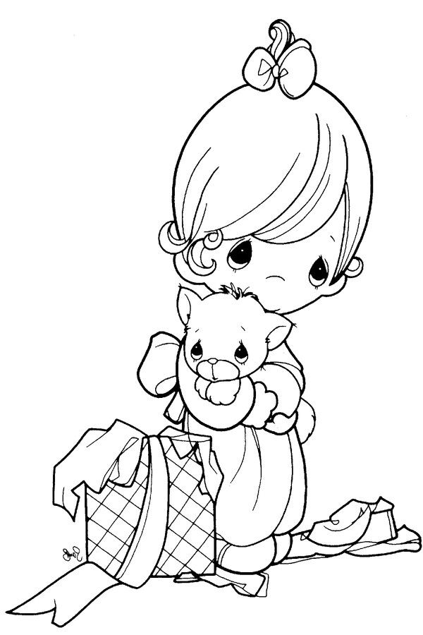 Precious Moments coloring pages on Coloring-Book.info | 900x600