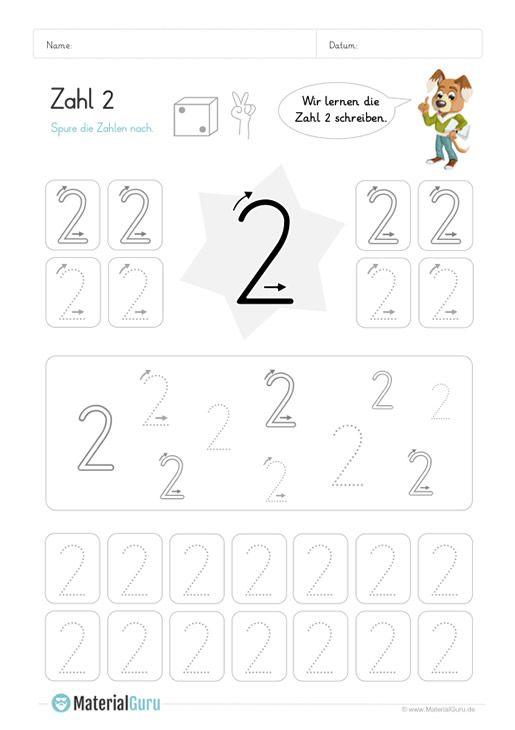 neu ein kostenloses mathe arbeitsblatt zum schreiben lernen der zahl 2 auf dem die kinder. Black Bedroom Furniture Sets. Home Design Ideas