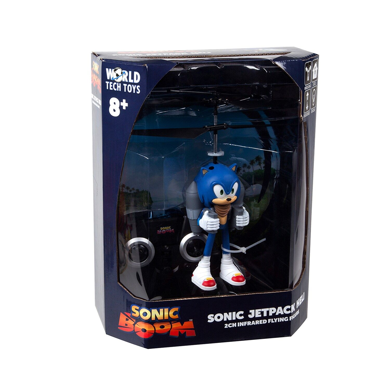 World Tech Toys SEGA Licensed Sonic Boom Jetpack 2CH IR RC Helicopter #techtoys