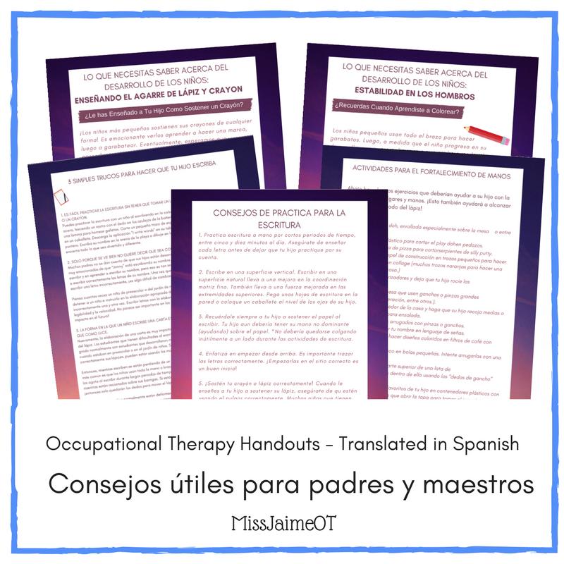 Ot handouts for parents teachers and therapists translated in ot handouts for parents teachers and therapists translated in spanish fandeluxe Choice Image