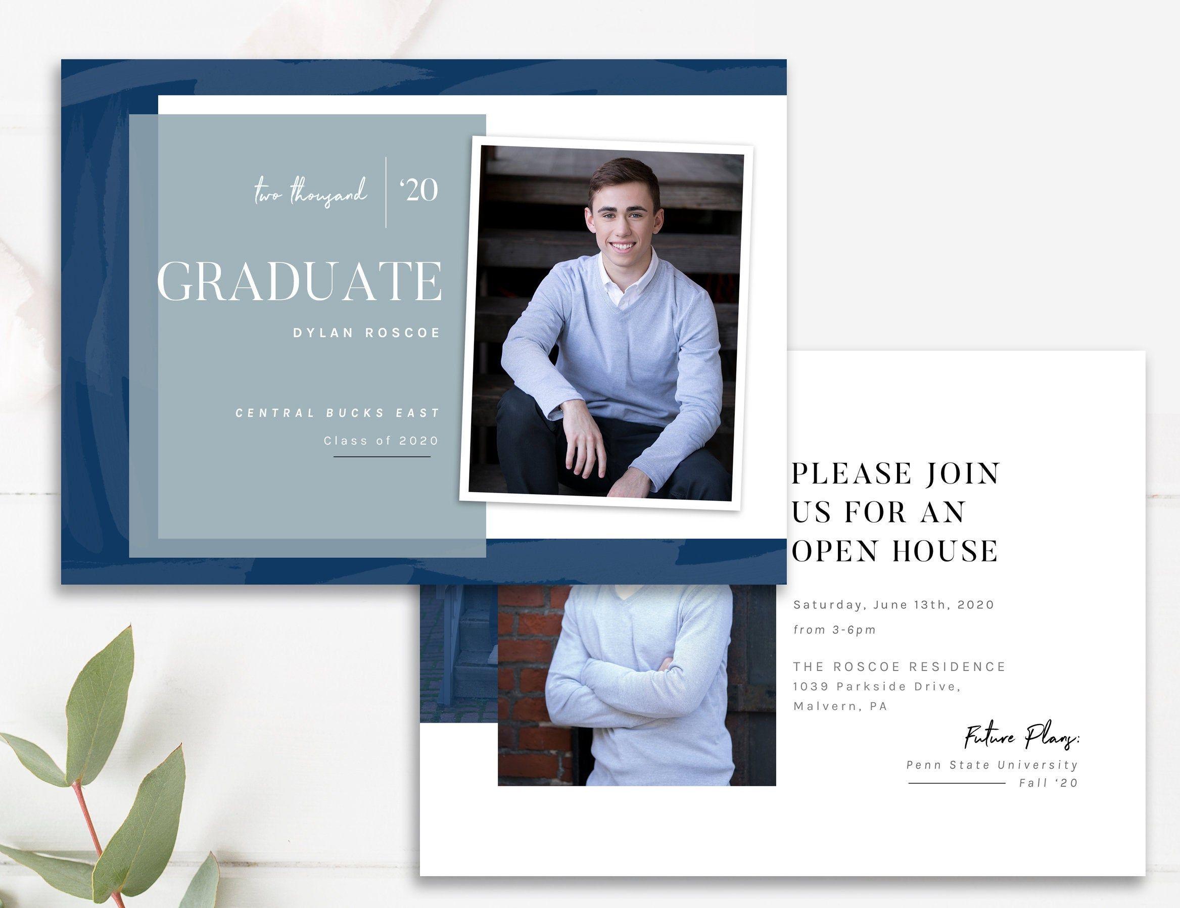 Senior Graduation Announcement Graduation Photo Card Etsy Graduation Photo Cards Photo Card Template Senior Graduation Announcements