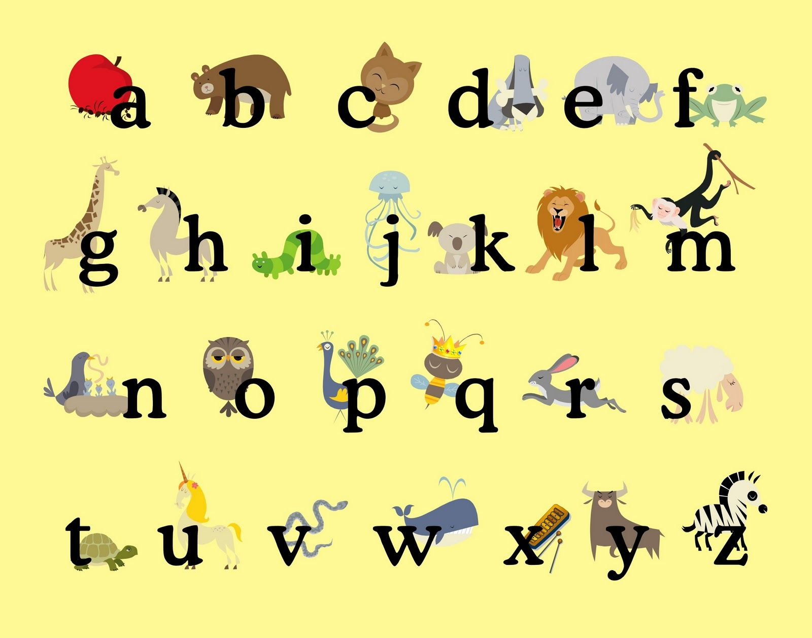 Worksheets Alphabet For Preschoolers printable color poster for preschool alphabet from sprik space