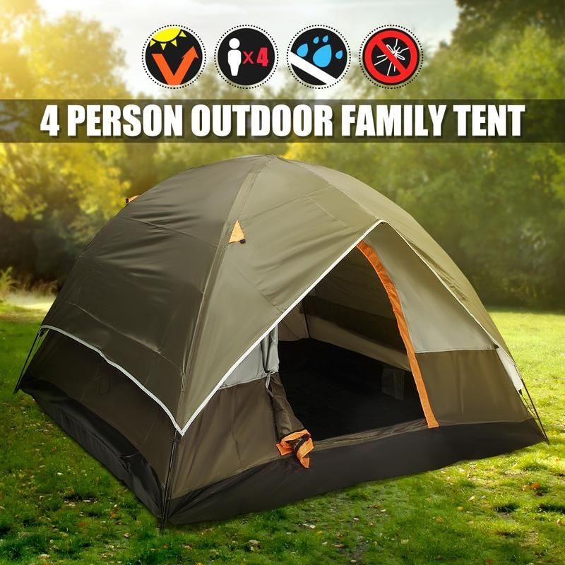 4 Person Double Layer Tents Waterproof Camping Tents