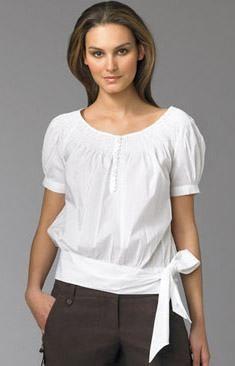 conseguir baratas encontrar el precio más bajo gran ajuste modelos de blusas clasicas   blanco   Blusa vestido, Blusas ...