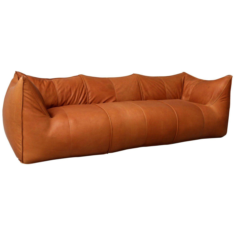 Vintage Mario Bellini Bambole Three Seat For B B Italia Cognac Leather Vintage Sofa Mid Century Modern Sofa Furniture