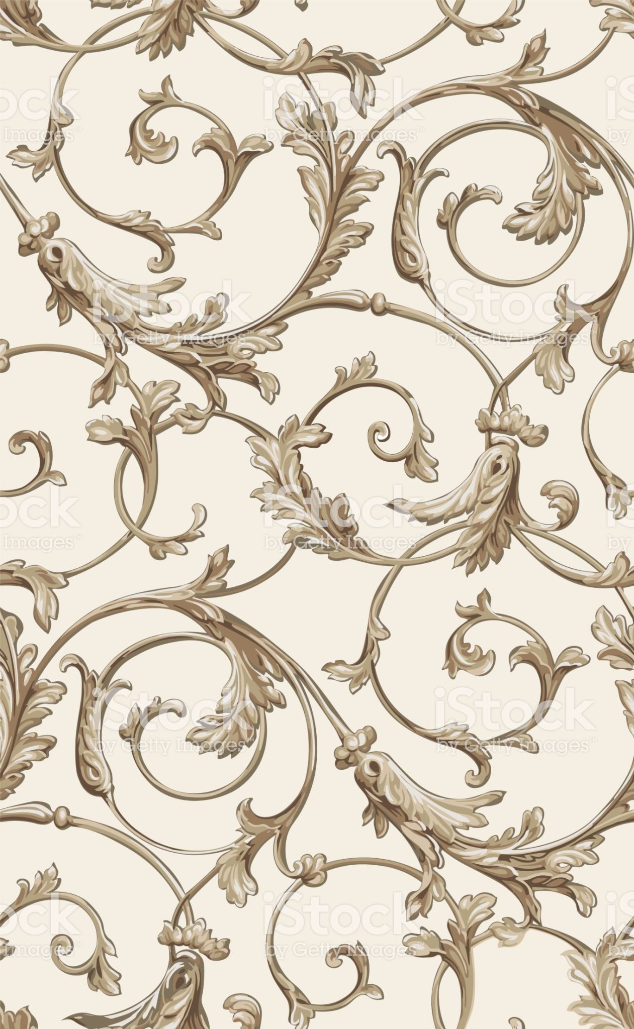 Vector Classic Seamless Pattern Background Classical Luxury Old Classic Wallpaper Texture Baroque Pattern Seamless Textures