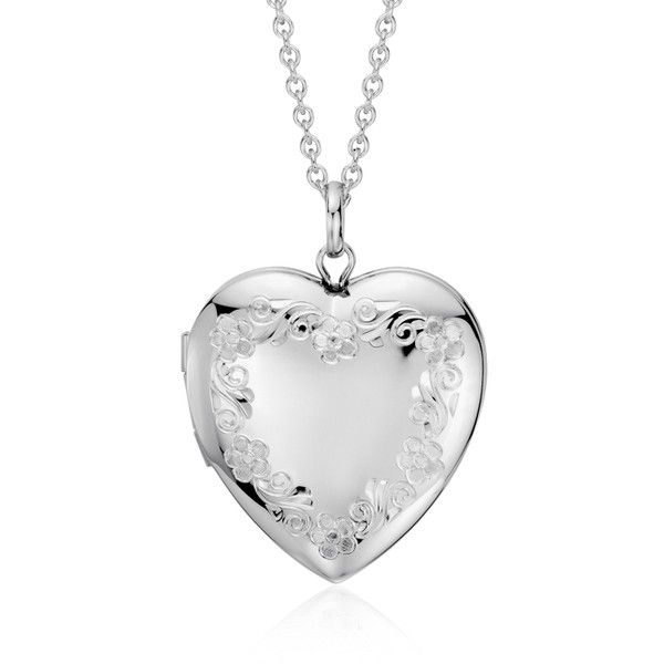 Blue Nile Hand-Engraved Heart Locket in Sterling Silver 3qp7LW29