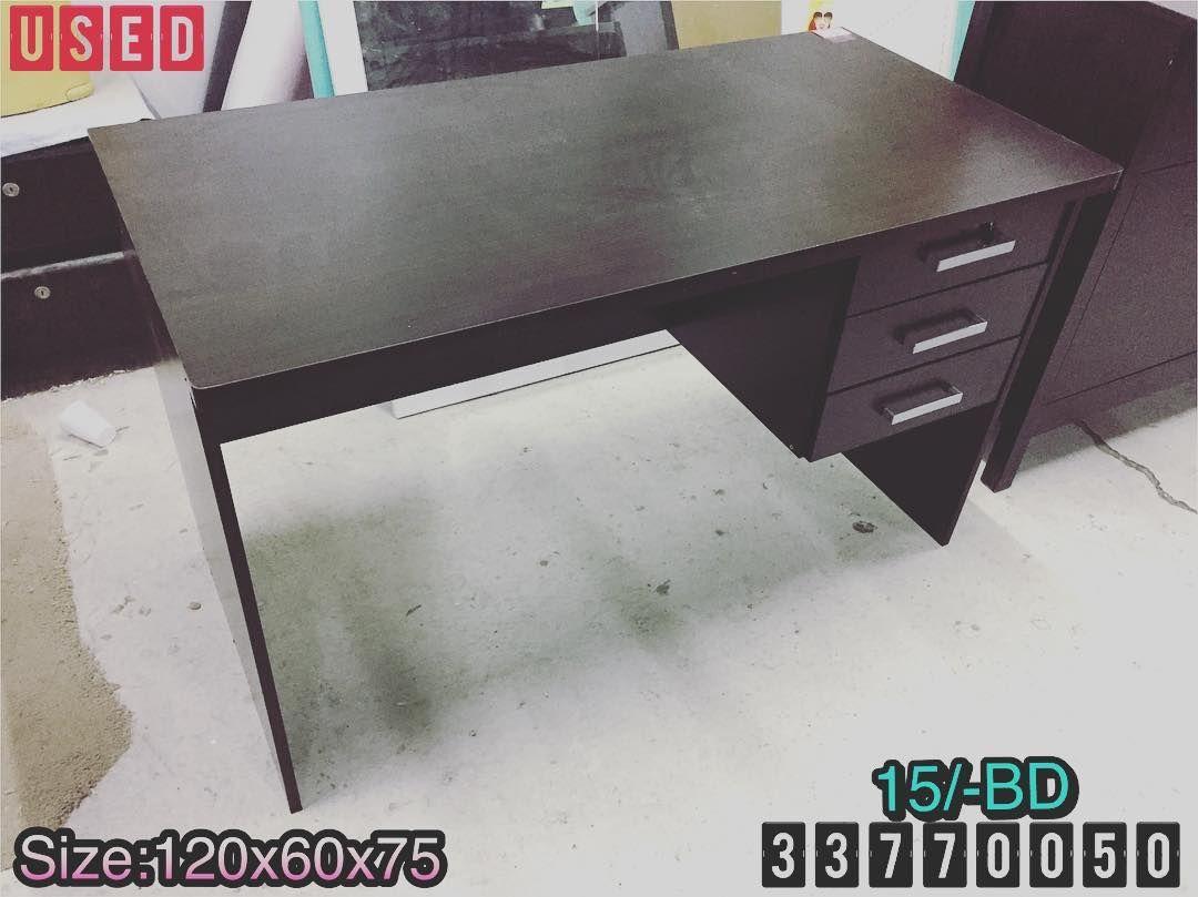 For Sale Wood Office Desk Size 120x60x75 Brown Color Excellent Condition Price 15 Bd للبيع طاولة مكتب خشب لون بني بحالة Office Desk Desk Corner Desk