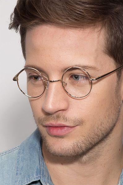 Abazam Round Golden Frame Eyeglasses Em 2020 Oculos De Grau
