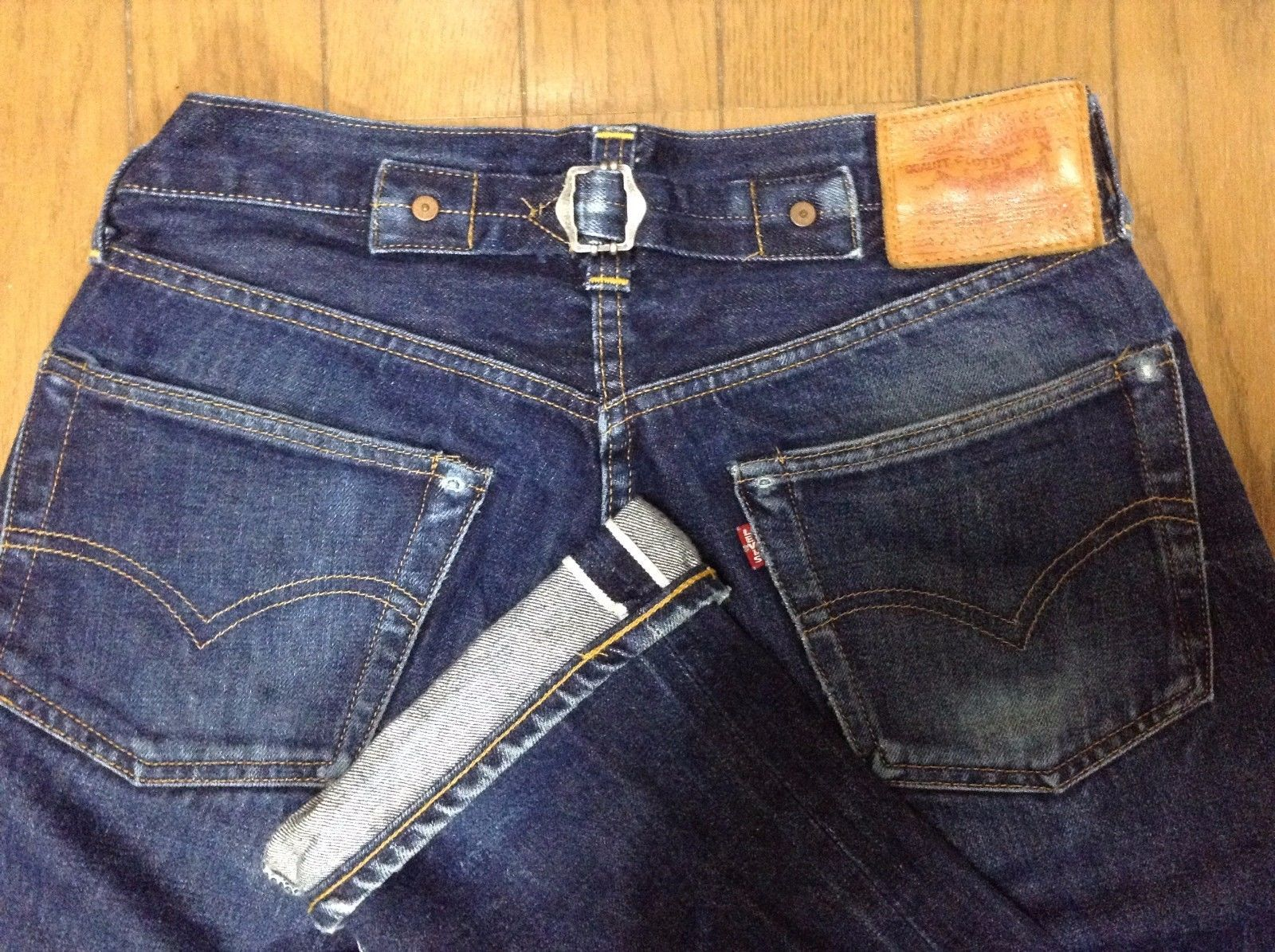 Levis 201 / 501 Xx Big E Selvedge Buckle Cinch Back Lvc 555 Valencia ...