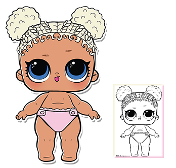 Lil Flower Child Series 3 Wave 2 L O L Surprise Doll Coloring Page Trafarety