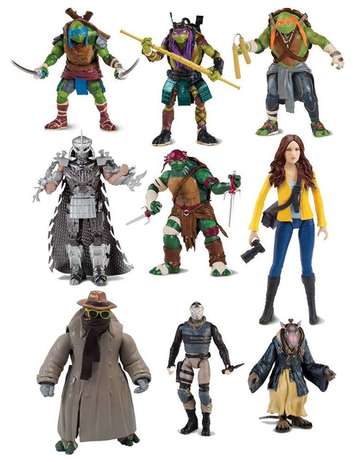 Playmates Movie Toys Reveal Splinter And More Teenage Mutant Ninja Turtles Movie Teenage Mutant Ninja Turtles Toy Ninja Turtles Action Figures