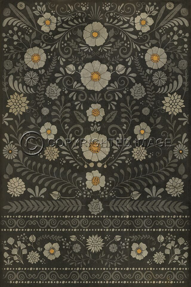 Pattern 36 Je Regrete Rien Vinyl Floor Cloth