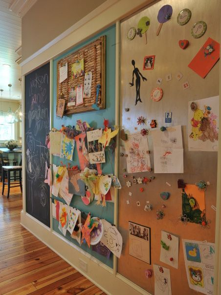 9 Great Ideas For Displaying Kids Art Today S Pa Full Length Chalk Cork Magnetic Board