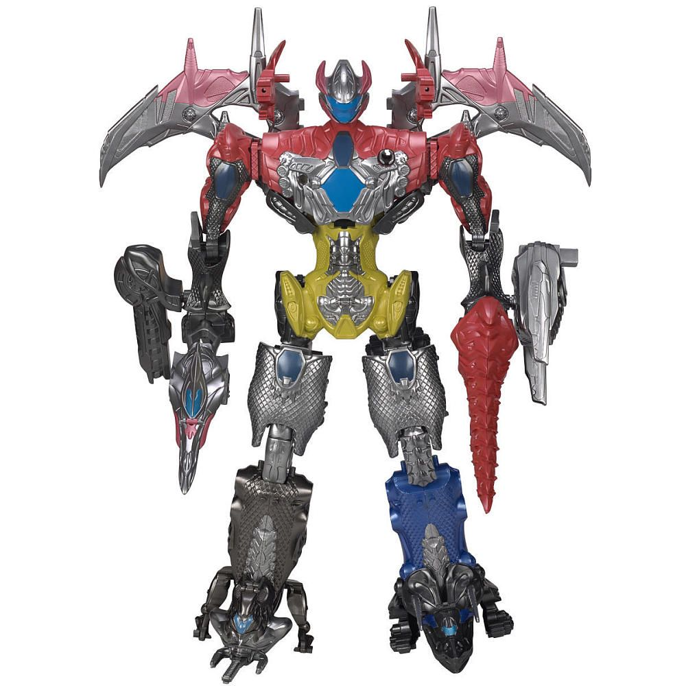 Morph together all 5 Battle Zords from the Mighty Morphin Power ...