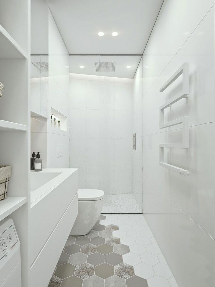 Bagno bianco 20 idee di arredamento moderno ed elegante for Arredo bagno bianco