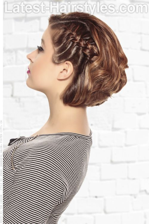 Graduated Bobbed Hair With Braid Side Acconciature Capelli Corti
