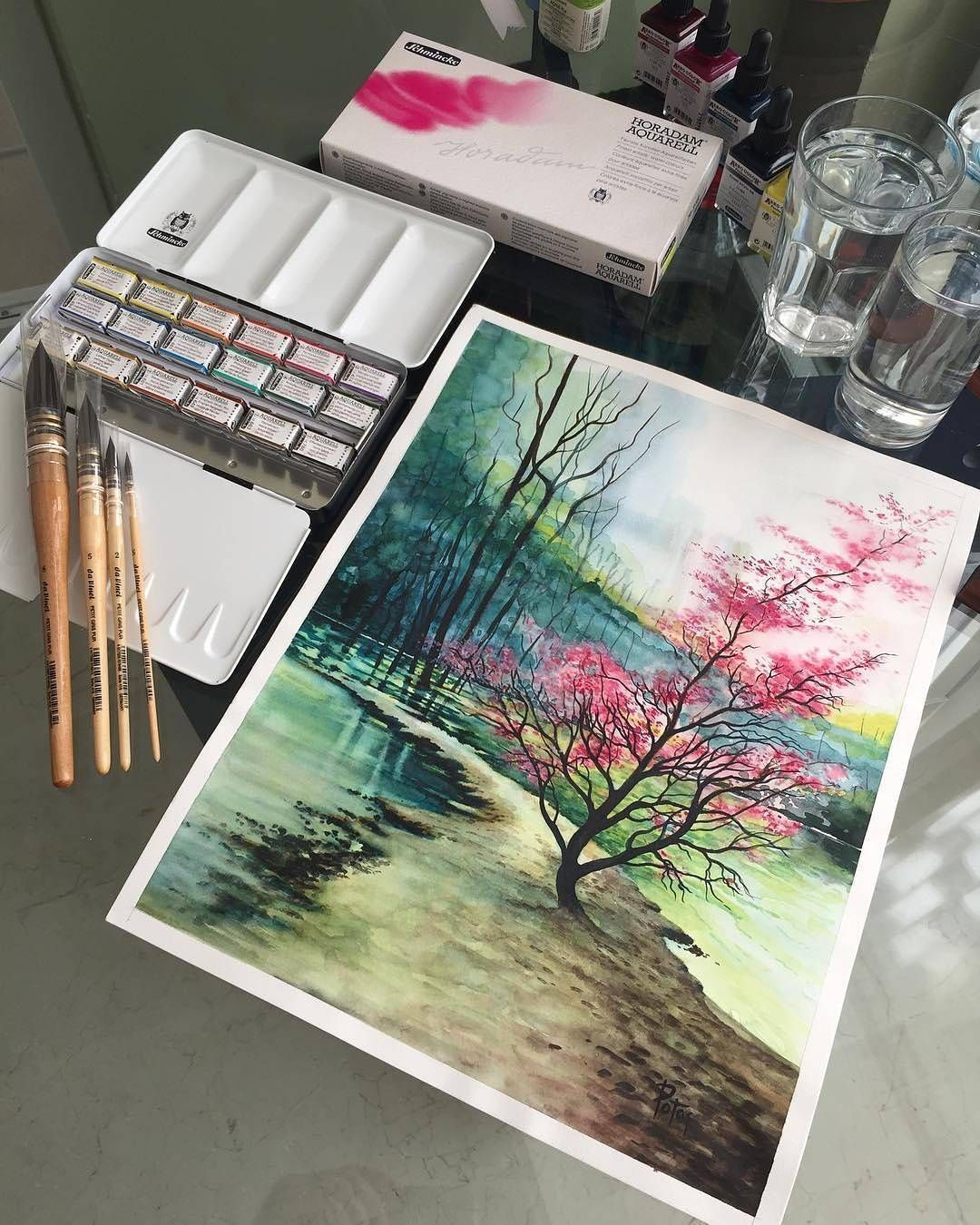 Watercolor By Adem Potas 3 Artwork Painting Colorful Art Art
