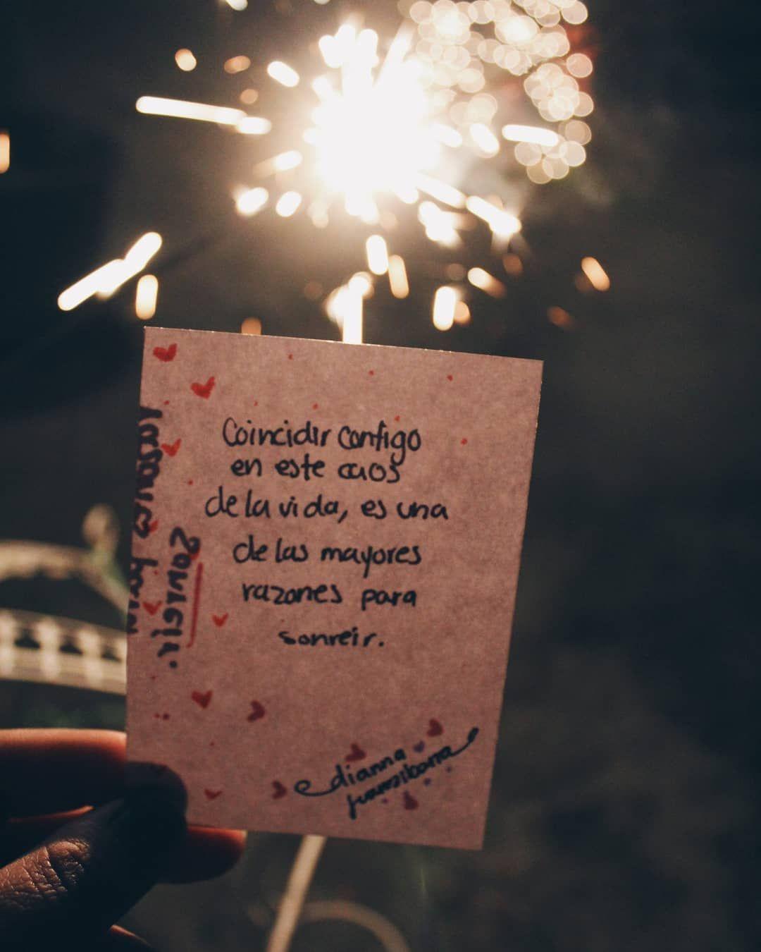 Coincidir contigo, en este caos de la vida, es una de las mayores razones para sonreír. #love #amor